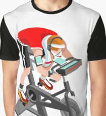 Spinning Bike Fitness Athlete Exercise Graphic T-Shirt