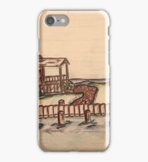 Camp on the lake iPhone Case/Skin