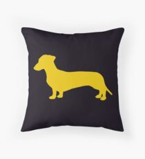 Wiener Dog - Dachshund Throw Pillow