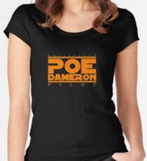 poe dameron; the best resistance pilot Women's Fitted Scoop T-Shirt