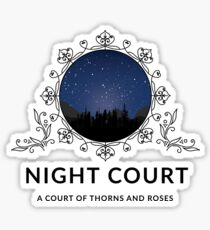 Night Court - A Court of Thorns and Roses Sticker