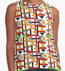 Bright Bold Modern Funky Geometric Abstract Graphic Contrast Tank