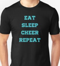 Eat, Sleep, Cheer, Repeat! Slim Fit T-Shirt