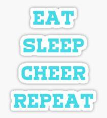 Eat, Sleep, Cheer, Repeat! Sticker