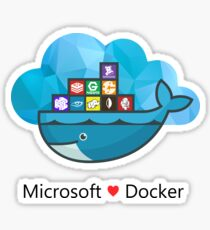 Docker + Microsoft Azure Sticker