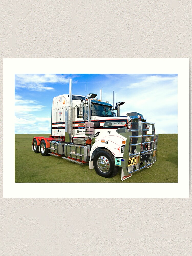 Alternate view of The Mighty Kenworth T904. Art Print