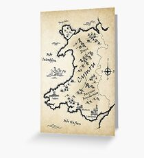 Medieval Map Of Wales - Welsh Greeting Card