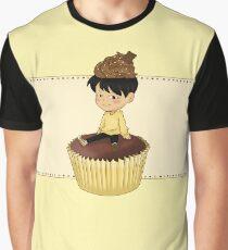 Jimin Cupcake + Background Graphic T-Shirt