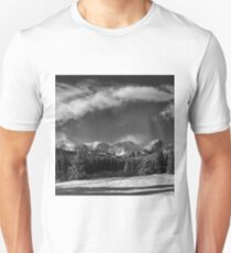 Rocky Mountain Park in Black and White by Lena Owens T-Shirt