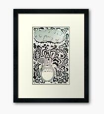 My Neighbor Totoro Rain Design Framed Print