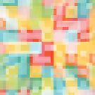 Soft Squares Colorful Geometric by Kelly Dietrich