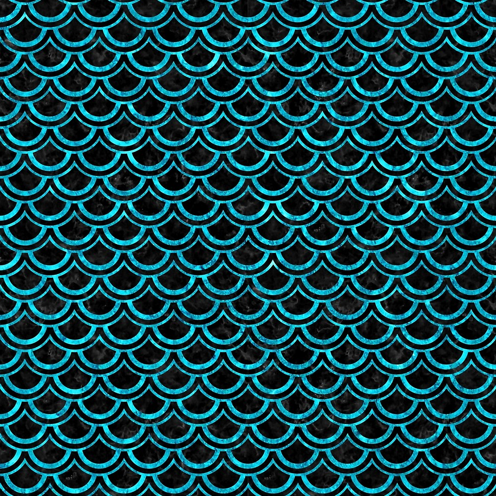 SCALES2 BLACK MARBLE AND TURQUOISE MARBLE by johnhunternance