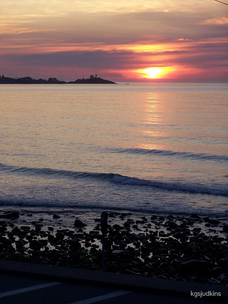 Sunrise Nubble Lighthouse York Maine by kgsjudkins