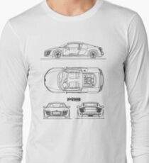 R8 V10 Blueprint Long Sleeve T-Shirt