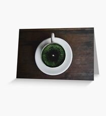 World in a cup Greeting Card
