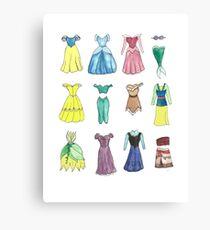 Princess Dresses Canvas Print