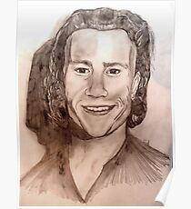 Heath Ledger Portrait Poster