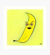 Angry Banana Art Print