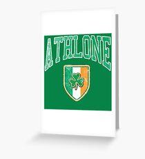 Athlone, Ireland with Shamrock Greeting Card