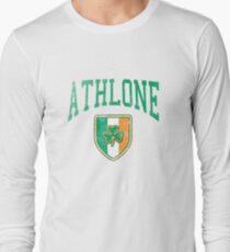 Athlone, Ireland with Shamrock Long Sleeve T-Shirt
