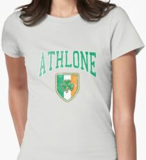 Athlone, Ireland with Shamrock Women's Fitted T-Shirt