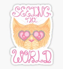 Seeing the World Through Rose Coloured Lenses Sticker
