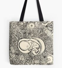 Baby In A Mechanical World Tote Bag