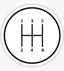 Stick Shift H Pattern Sticker