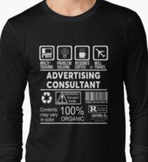 ADVERTISING CONSULTANT - NICE DESIGN 2017 Long Sleeve T-Shirt