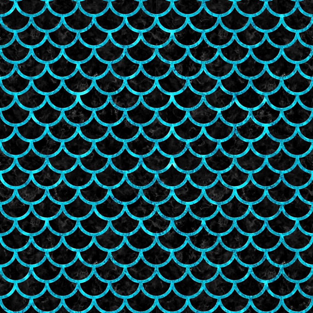 SCALES1 BLACK MARBLE AND TURQUOISE MARBLE by johnhunternance