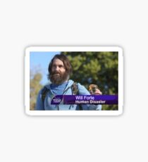 Will Forte: Human Disaster Sticker
