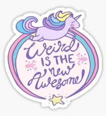 Weird Unicorn Sticker