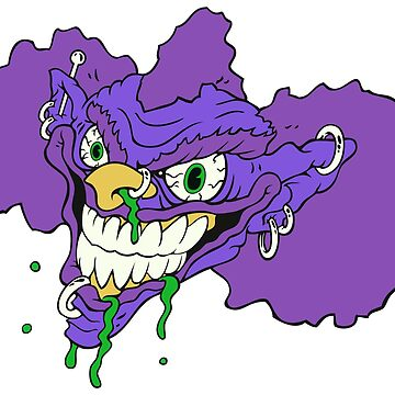 Purple Clown Albert by Benoeaves