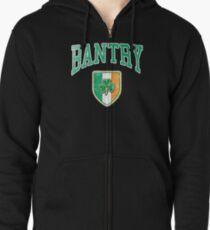 Bantry, Ireland with Shamrock Zipped Hoodie