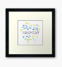Harmony Natural Beauty Framed Print