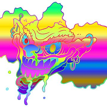 Rainbow Clown by Benoeaves