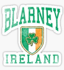 Blarney, Ireland with Shamrock Sticker