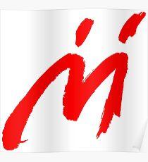 Super Mario Sunshine Shadow Mario M Logo (white background) Poster