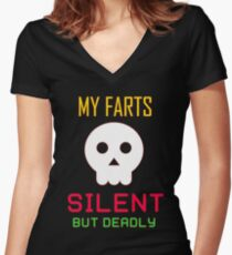My Farts - Silent But Deadly Women's Fitted V-Neck T-Shirt
