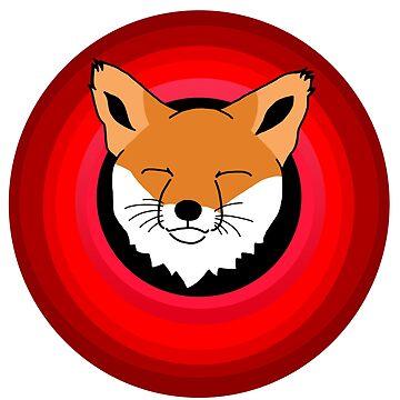 the happy fox by SaudQurban