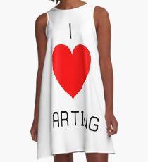 I Love Farting A-Line Dress