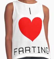 I Love Farting Contrast Tank