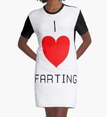 I Love Farting Graphic T-Shirt Dress
