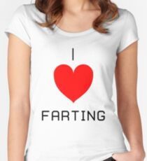 I Love Farting Women's Fitted Scoop T-Shirt
