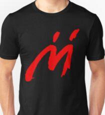 Super Mario Sunshine Shadow Mario M Logo (black background) Unisex T-Shirt