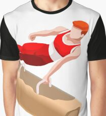 Artistic Gymnastic Pommel Horse Bar Athlete Graphic T-Shirt