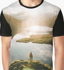 Switzerland Mountain Lake Sunrise - Landscape Photography Graphic T-Shirt