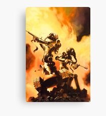 The Fighting Robots Canvas Print