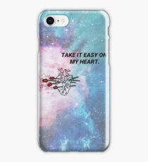 Take it easy on my heart iPhone Case/Skin