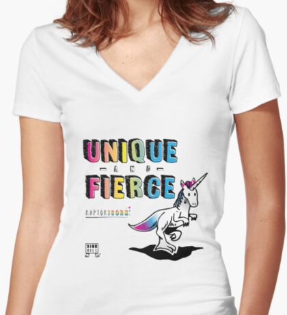 Unique and Fierce Fitted V-Neck T-Shirt